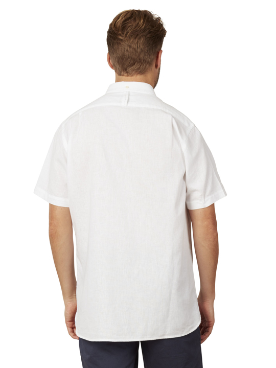 Raging Bull - Big & Tall Short Sleeve Linen Shirt - White