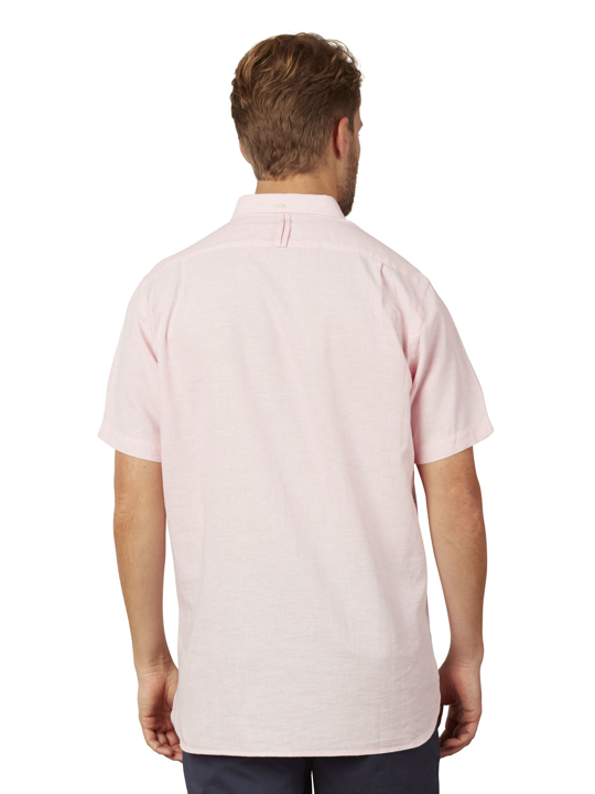 Raging Bull - Big & Tall Short Sleeve Linen Shirt - Pink