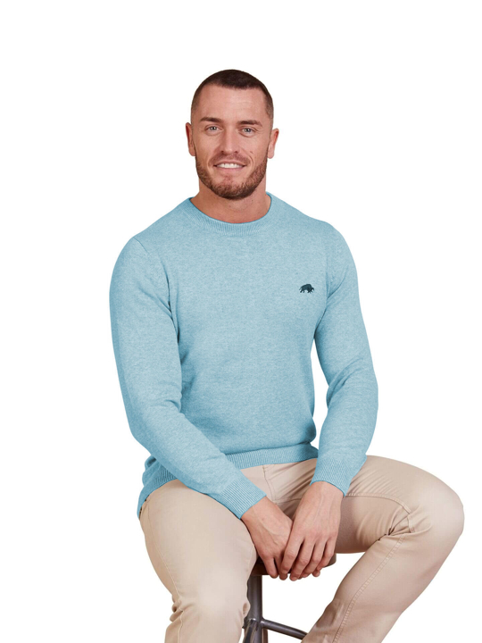 Raging Bull - Signature Lightweight Crew Neck - Sea Blue