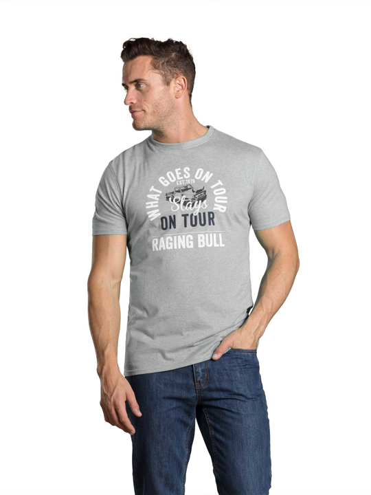 Raging Bull - What Goes on Tour Tee - Grey Marl