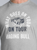 Raging Bull What Goes on Tour Tee - Grey Marl