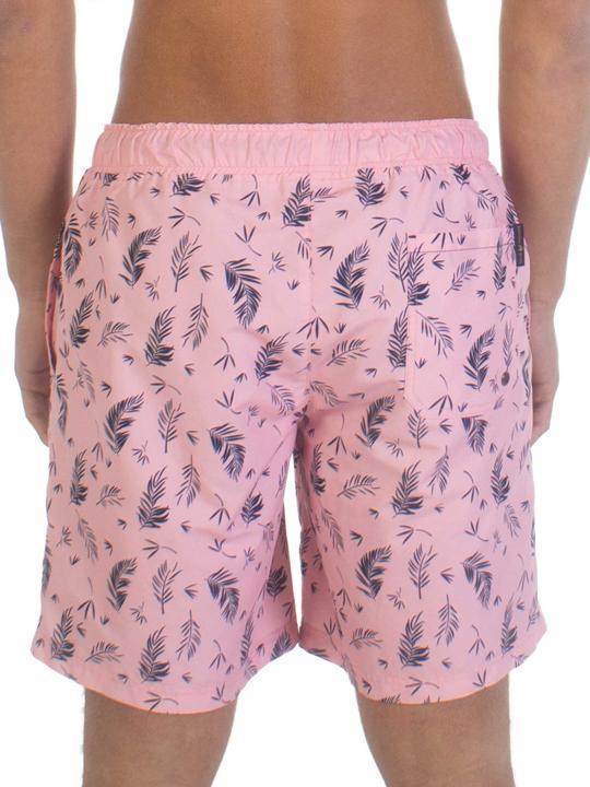 Raging Bull - Pattern Swim Shorts - Pink