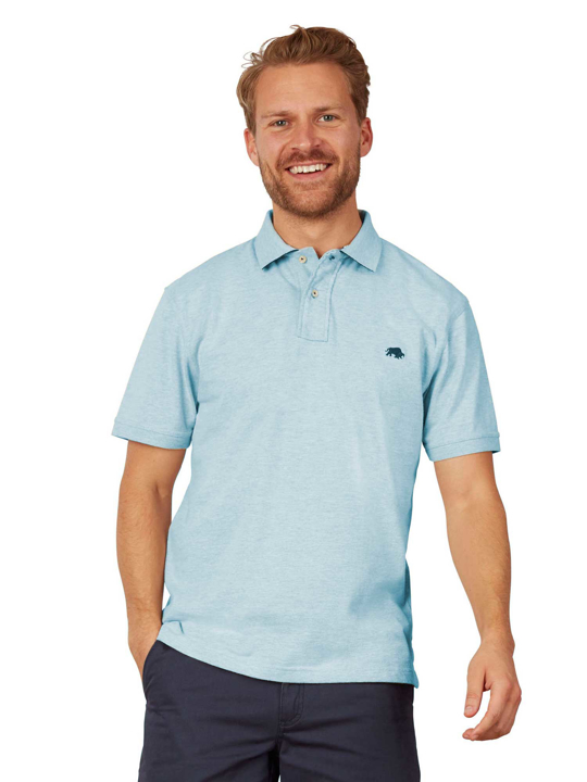 Raging Bull - Big & Tall Signature Jersey Polo - Sky Blue