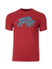 Raging Bull Big & Tall Embroidered Bull Tee - Red