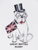 Raging Bull Bull Dog Tee - White