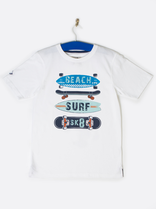 Raging Bull Surfboard Tee - White