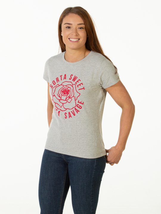 Raging Bull - Sort'a Sweet Tee - Grey Marl