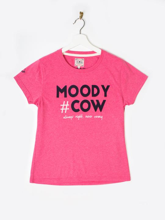 Raging Bull - Moody Cow Hashtag Tee - Vivid Pink