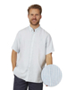 Raging Bull Big & Tall Short Sleeve Stripe Shirt - Sky Blue