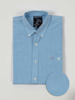 Raging Bull Big & Tall Short Sleeve Gingham Shirt - Sky Blue