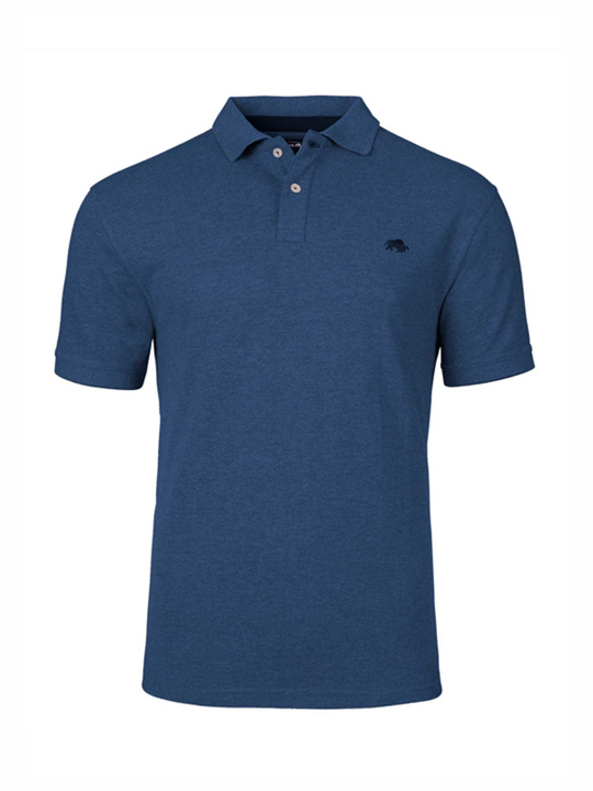 Raging Bull - Slim Fit Plain Polo - Denim