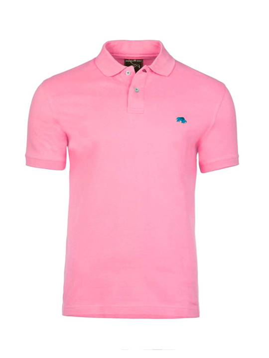 Raging Bull - Slim Fit Plain Polo - Pink