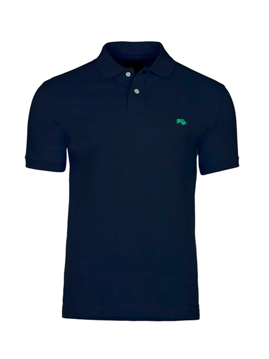 Raging Bull - Slim Fit Plain Polo - Navy