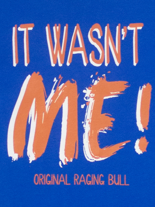 Raging Bull - It Wasn't Me Tee - Cobalt Blue